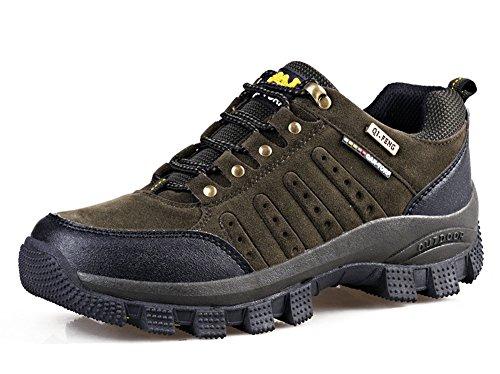 Minetom Erwachsene Trekking Wanderschuhe Leicht Wasserdicht Wandern Halbschuhe Outdoor Schuhe Sneaker für Herren Damen C Braun Orange EU 36