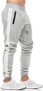 KEFITEVD Men's Sport Pants Workout Jogger Sweatpants Stretch Slim Fit Running Pants with Pockets