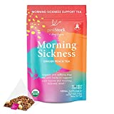 Pink Stork Morning Sickness Tea: Ginger Peach + USDA Organic + Nausea Relief + Supports Digestion &...