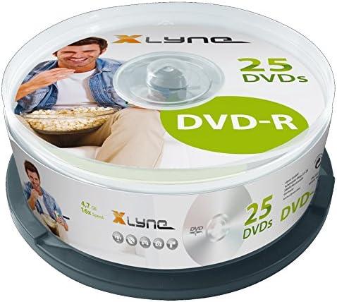 Xlyne Dvd R Rohlinge 4 7 Gb 16x Speed 25er Spindel Optical Media