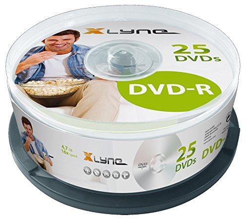 XLYNE DVD-R Rohlinge (4,7 GB, 16x Speed, 25er Spindel, optical media)
