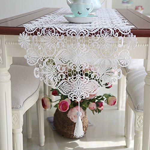 I will take action now Tischdecke Europäischen Einfache Hohle Spitze Esstisch Tischläufer Mode Tee Tisch Quaste Tischläufer (Size : 40 * 120cm)
