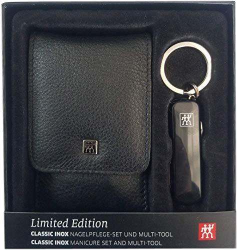 Zwillling ClassicInox Manicure Etui 4tlg.Taschenetui + Multitool/Taschenmesser schwarz