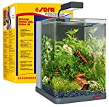 sera Biotop Nano LED Cube 16l ein Aquarium Komplettset - Plug & Play - aus gebogenem Glas mit LED Beleuchtung & großem 3-Kammer Innenfilter für Garnelen, Krebse und Kampffisch Maße (BxHxT) 22x30x25cm