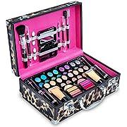 Vokai Makeup Kit Gift Set – 52 Piece - 32 Eye Shadows, 2 Blushes, 4 Lipsticks, 1 Dual-tip Eye Pencil, 1 Dual-tip Lip Pencil - Mirror - Case with Carrying Handle