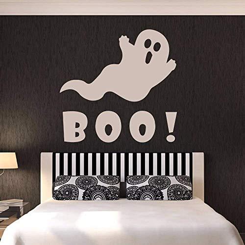 SHUIG Boo Cartoon Ghost Wandaufkleber für Urlaub Wohnzimmer Kunst Dekor Halloween Vinyl Wandtattoos Schlafzimmer Home Aufkleber Wandbilder 57 * 57Cm