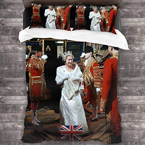 Hm Queen Elizabeth Tagesdecken-Set, 3-teiliges Bettwäsche-Set, 213 x 178 cm, Bettdeckenbezug, Kissenbezug, 50,8 x 76,2 cm