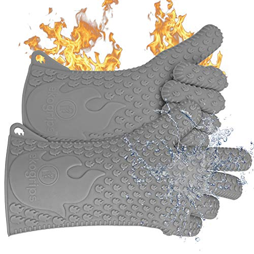 Jolly Green Products Ekogrips Premium Heat-Resistant BBQ Gloves for Cooking and Meat Handling,...