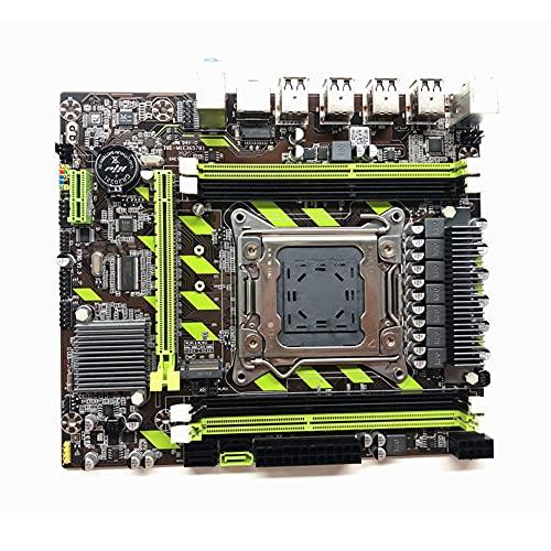 enjoymentlin Placa base SATA 3.0 PCI-E M.2 Canal Mainboard para Xeon E5 Core i7 Desktop Computer Soporta memoria DDR3 RECC