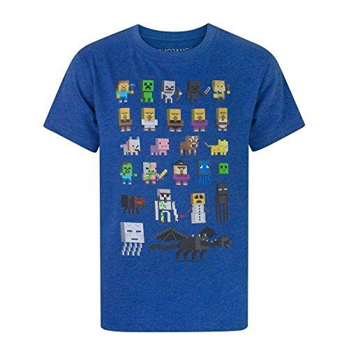 Minecraft Minecraft Jungen Minecraft kurzärmligen T-Shirt 6 Bis 7 Jahre Blau