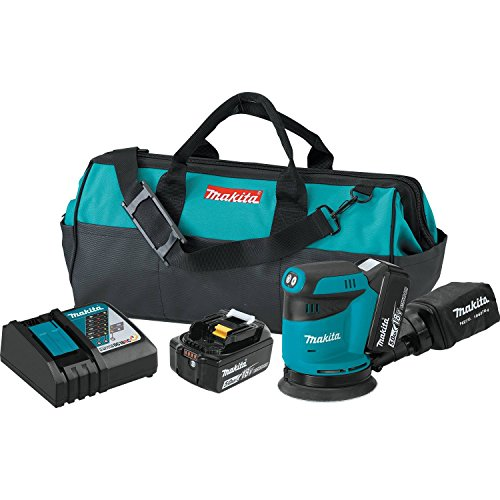 "Makita XOB01T 18V LXT Lithium-Ion Cordless 5"" Random Orbit Sander Kit (5.0Ah)"