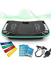 4D Triple Motor Vibration Plate   Krachtig   Magnetische Therapie Massage   Gebogen Oppervlak   4.0 Bluetooth Speakers   Vibratie Oscillatie & Micro Vibratie   3 Silent Drive Motors