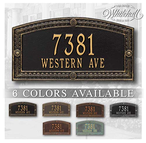 Metal Address Plaque Personalized Cast The Hamilton Plaque. Display Your Address and Street Name. Custom House Number Sign.