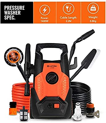 Indoor and Outdoor Cleaning Tools Mop Pressure Washer, 1400W 110Bar, 360 Deg; Easy to Remove Dirt, TSS Stop System, High Power Pressure Cleaner for Vehicle, Garden. dljyy by dljxx