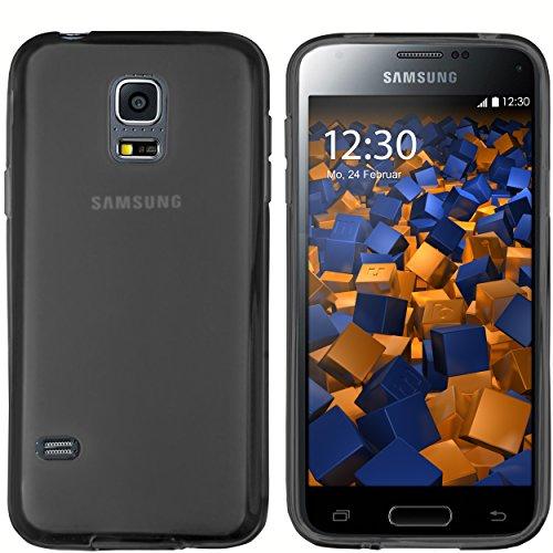 mumbi Custodia Compatibile con Samsung Galaxy S5 Mini, Chiaro Nero