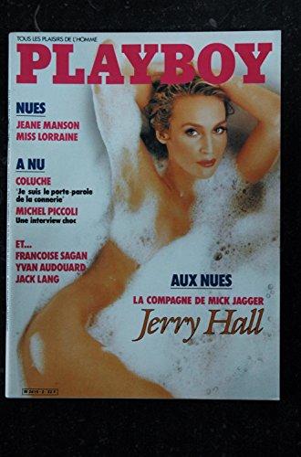 PLAYBOY 002 OCTOBRE 1985 INTERVIEW MICHEL PICCOLI COVER JERRY HALL JEANE MANSON SAGAN COLUCHE