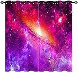 FGYSFT Cortinas Habitacion Niño 3D Nebulosa del Universo Espacial 70X245 Cm X 2 Patrón Cortinas Opacas Termicas Aislantes Frío Y Calor Intimidad para Hogar 2 Piezas Reduccion Ruido Proteccion