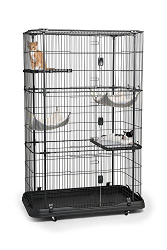Prevue Pet Products Premium Cat Home With 4 Levels, Black