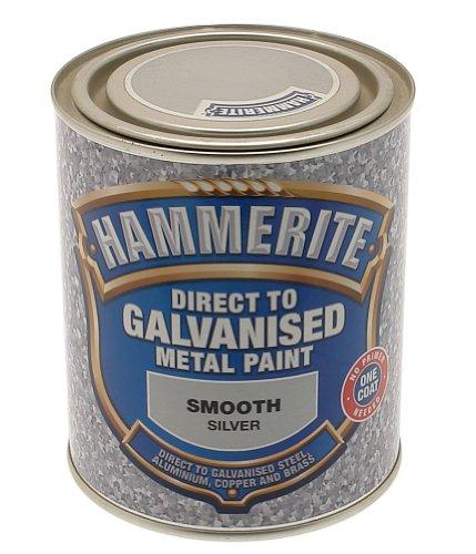 HAMMERITE 5097051Metallfarbe Direkt auf Zink, 750ml, Silber