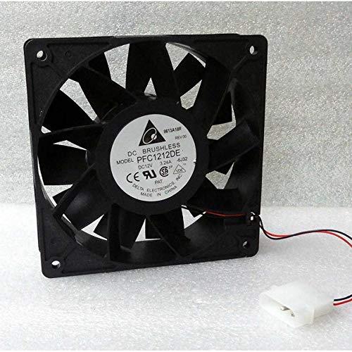 N / A Cooler Fan for Delta PFC1212DE 120mm x 38mm Ultra High Airflow Fan 252 CFM 4 Pin Molex DC 12V 3.24A