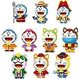 LLGG Doraemon Set Blocks Cat Pet Robot Robot 3D Modelo DIY Mini Diamond Building Blocks Ladrillos Niños Juguetes Niños Regalos