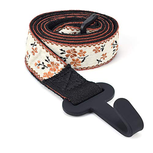 CLOUDMUSIC Ukulele Strap Button Free Hawaiian Floral Ukulele Strap with Hook Clip On For Soprano...