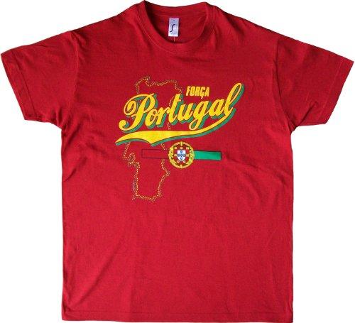 A tous su País – Camiseta – Colección Supporter – FORCA Portugal – Camiseta para adulto, rojo, small