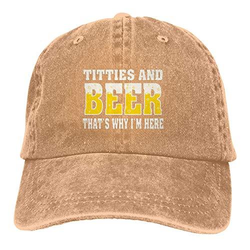 Gorra de bisbol para adultos con texto en ingls 'Beer That's Why I'm Here Denim Beis'