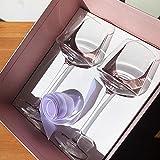 Europa 1 Unidades Cristal copa de vino copas de champán copa Copa de vino de alta capacidad boda cumpleaños Caja de regalo Set drinkware, 2pcs1set 450ml