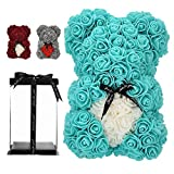 Unique Gifts,Rose Bear,Rose Teddy Bear in a Gift Box - Birthday Gift for Women,Gifts for mom Fully Assembled Gift Box (Royal Blue)