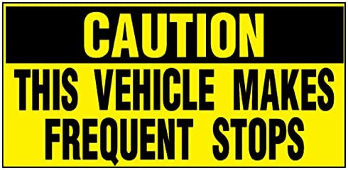 Fastasticdeals Vehicles Makes Frequent Stops Caution Car Door Magnets Magnetic Signs Qty 2 12 product image