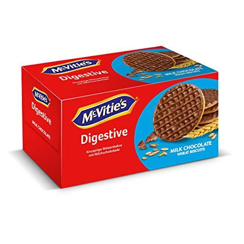 McVitie´s Digestive Milk Chocolate (1x200g) - Knusprige Schoko-Kekse mit Vollkorn - Leckeres, original britisches Gebäck zum Kaffe, Tee oder als Snack