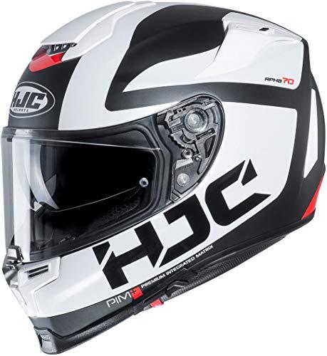 Casco de moto HJC RPHA 70 BALIUS MC10SF, Negro/Blanco/Rojo, XS