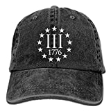 AOHOT Cappellini da baseballClassic Baseball cap, Three Percenter 1776 Symbol Washed Retro...