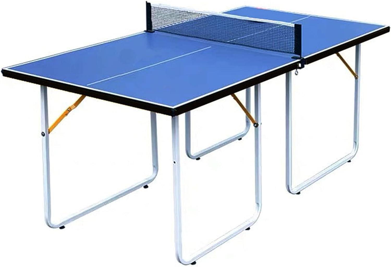 Mesa de Ping Pong Mesa De Tenis De Mesa Plegable Pequeña, Juego De Entrenamiento De Tenis De Mesa para Niños De Interior, 182 Cm X 91 Cm X 76 Cm
