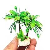 Bbl345dLlo - Plantas acuáticas Tropicales, Acuario, Acuario, pecera, árbol de Coco Artificial, decoración de Paisaje, Color Verde