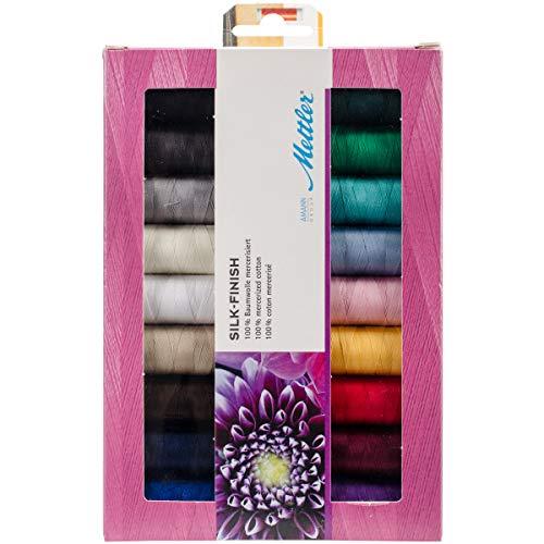 Mettler-Seide Finish Baumwolle Gewinde Geschenk Pack 1, Mehrfarbig