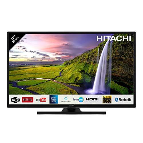 "Hitachi - TV LED da 32"", Full HD, con Alexa/Smart TV: Netflix, Youtube, Prime/WiFi/Bluetooth/3 HDMI/PC/USB"