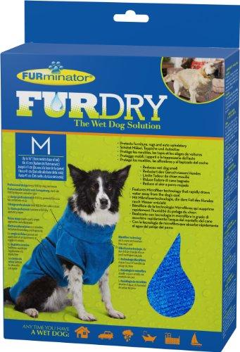 FURminator FUR Dry für Hunde (mittelgroß, bis 41 cm Körperlänge, blau)