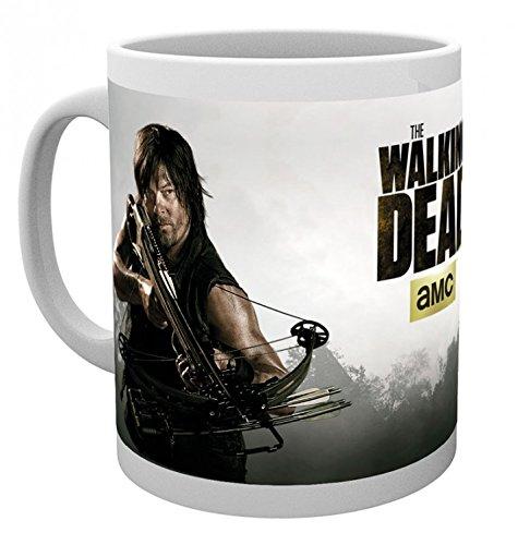 1art1 The Walking Dead, Daryl Dixon Foto-Tasse Kaffeetasse (9x8 cm) Inklusive 1x Überraschungs-Sticker