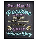 Positive Quotes Wall Decor Poster - Inspirational Uplifting Encouragement Gift for Women, Daughter, Best Friend, Teens, Girls - Motivational Self Improvement Art for Bathroom, Bedroom, Home Office