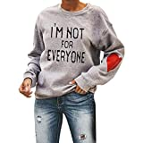 I'm Not for Everyone Sweatshirt A Funny Hand Lettered Design Women's Long Sleeve Thermal Sweater Plus Size.S-5XL Gray