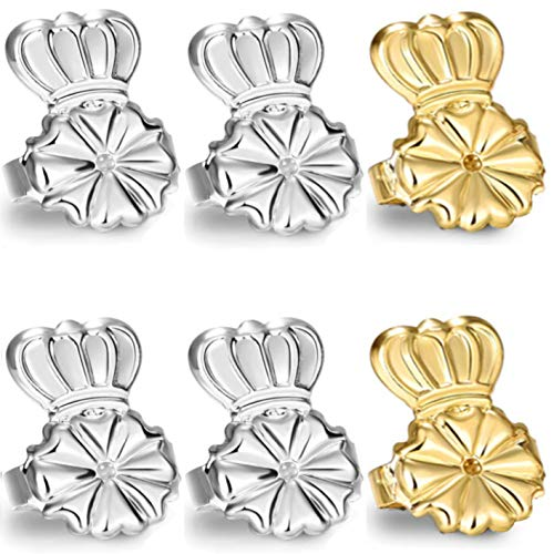 Original Magic Earring Lifters and Earring Backs – 3 Pairs of Hypoallergenic Adjustable Earring Lifts - Pairs of Earring Backs– Easy to Use, Drooping Earrings