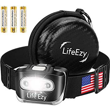 LED Headlamp – Super Bright Waterproof Top Quality L660 Flashlight Headlamps – 7 Modes with Red Safety Light – Camping Running Head Lamp – Batteries Included – Adjustable for Adults and Kids