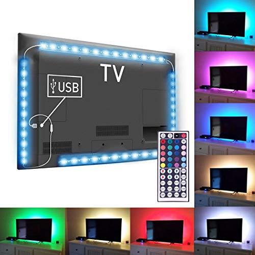 Digitaal HD LED Striscia 4 x 50 cm voor verlichting, TV MONITOR ECC. USB-multicolor met afstandsbediening, 20 kleuren