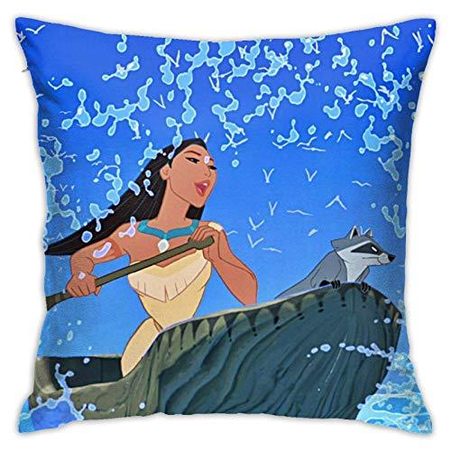 Pocahontas - Funda de almohada moderna para sofá y cama