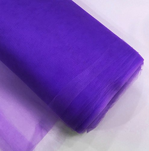 "Craft and Party, 54"" by 40 yards (120 ft) fabric tulle bolt for wedding and decoration (Purple)"