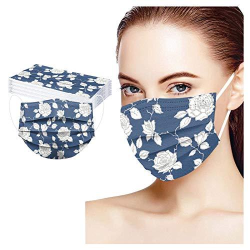 Cada Paquete de 10 Máscaras de Color de Protección para Niños, paño de Algodón con Cepillos, 3 Capas con Aanchos Elásticos y Clip nasal Ajustable, Hecho de Tela no Tejida y tela Filtrante Derretida