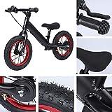 Changor Bicicleta para niños de Dos Ruedas, Capacidad de reacción Corporal Traen niños Auto-Control de Habilidad Bici Sin Pedal aleación de Aluminio Hecho (Negro)