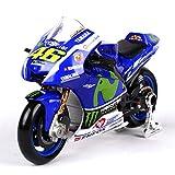 GRX-PRETTY 1: 18 / Yamaha Rossi MOTOGP Simulation Motorradmodell, Der Griff Kann Gedreht Werden, Das Rad Kann Gedreht Werden, Statisches Modell -